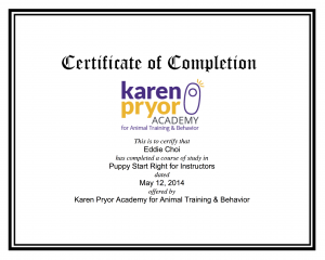 美國Karen Pryor Academy Puppy Start Right幼犬訓練導師課程