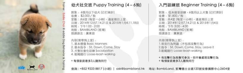 2014-12-07 幼犬訓練班 & 新手訓練班