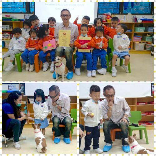 聖雅各福群會銅鑼灣幼稚園專題活動-向小朋友介紹狗狗及如何正確跟他們接觸
